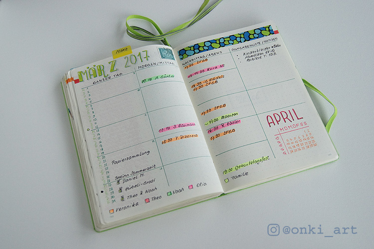 onkiart Bullet Journal monthlylog