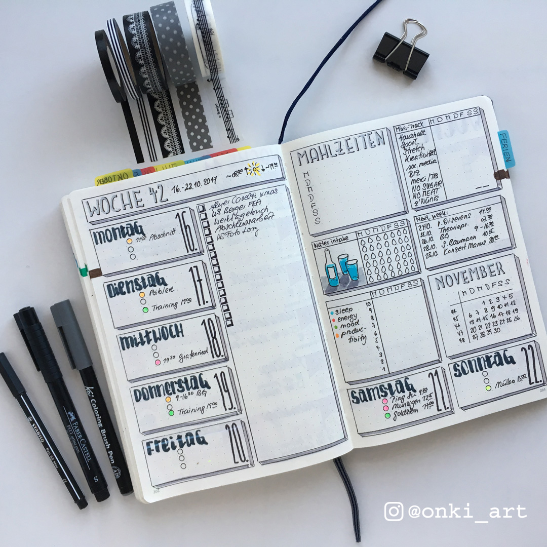 bullet journal weeklylog